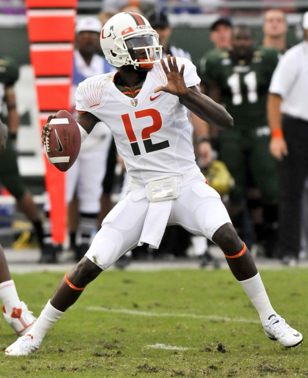 hot sale online 03793 acda9 Miami Hurricanes Football: The Best Five Uniforms Of the ...