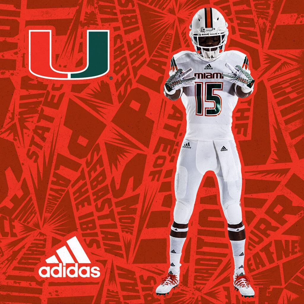 Miami Hurricanes Football  Miami-Adidas Unveil New Uniforms And They ... 171c754c1